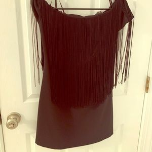 Zara NWT fringe dress
